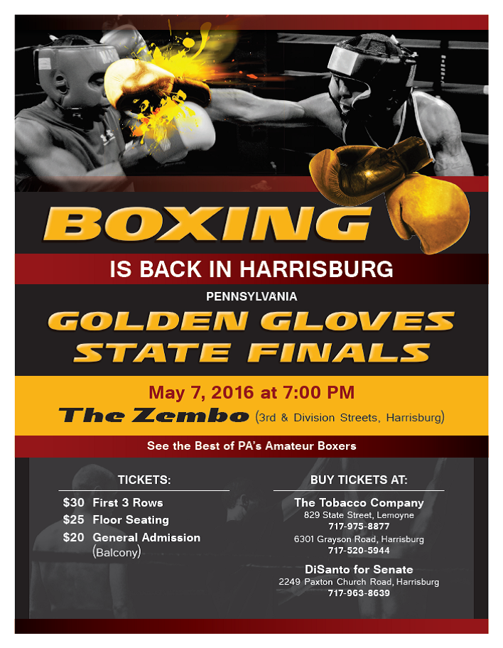 Golden Gloves Flyer